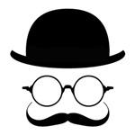 FACE WITH MUSTACHE AND BOWLER HAT