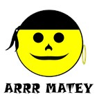 SMILEY FACED PIRATE WEAR