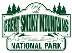 Great Smoky Mountains National Park Green Sign
