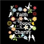 Faith Hope Charity, on Black