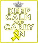 Testicular Cancer Keep Calm Carry On Shirts