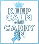 Prostate Cancer Keep Calm Carry On Shirts