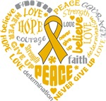 Appendix Cancer Heart Words Shirts