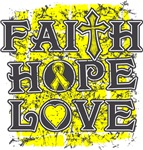 Osteosarcoma Faith Hope Love Shirts