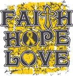 Childhood Cancer Faith Hope Love Shirts