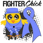 Stomach Cancer Fighter Chick Shirts