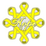 Hope Circle of Ribbons Endometriosis Shirts