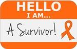 Kidney Cancer Hello I'm A Survivor Shirts