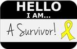 Ewings Sarcoma Hello I'm A Survivor Shirts