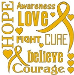 Appendix Cancer Hope Words Shirts