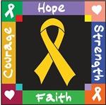 Childhood Cancer Courage Hope Shirts