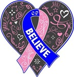 Male Breast Cancer Believe Shirts