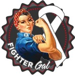 Mesothelioma Fighter Gal Shirts