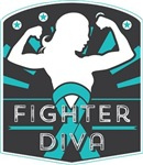 Peritoneal Cancer Fighter Diva Shirts
