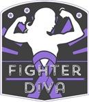 Hodgkins Lymphoma Fighter Diva Shirts