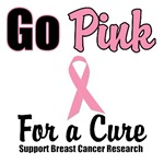 Go Pink For a Cure Breast Cancer T-Shirts & Gifts