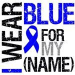 I Wear Blue Ribbon Colon Cancer Grunge Shirts