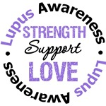 Lupus STRENGTH SUPPORT LOVE T-Shirts & Gifts