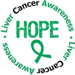 Liver Cancer Hope Round Shirts & Gifts