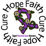 Pancreatic Cancer Flower Ribbon Shirts & Gifts