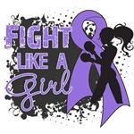 Hodgkin's Fight Like A Girl Grunge Shirts