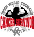 Brain Cancer Tough Survivor Shirts