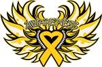 Neuroblastoma Cancer Heart Wings Shirts