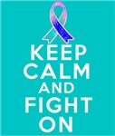 Thyroid Cancer Keep Calm Fight On Shirts