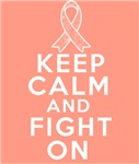 Uterine Cancer Keep Calm Fight On Shirts