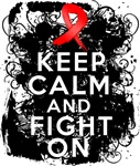Heart Disease Keep Calm Fight On Shirts