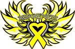 Ewings Sarcoma Heart Wings Shirts