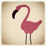 Flamingo Finger Drawing