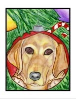 Please Click Here to See the Holiday Yellow Lab.