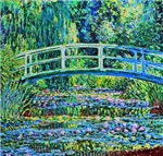 Claude Monet: The Japanese Footbridge and the Wate