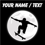 Custom Skateboarder Moon