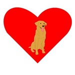 Golden Retriever Heart