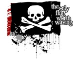 Pirate Flag, Only One Worth Waving - unpatriotic t