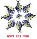 Retro Tuna Star Pattern Color Don't Eat Me