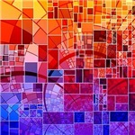 Mosaic in Mosaic red