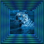 Framed blue Tiger