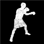 Distressed Boxer Silhouette