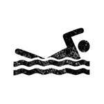 Distressed Swimmer Silhouette