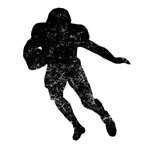 Distressed Running Back Silhouette