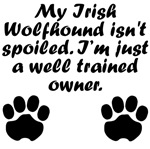Well Trained Irish Wolfhound Owner
