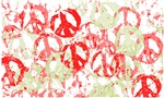 Red Peace Sign Montage