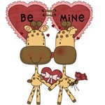 Giraffes Be Mine Valentine