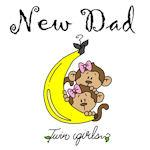 Monkeys Dad of Twin Girls Tshirts and Gifts