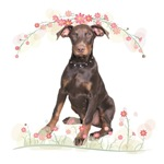 Doberman Flowers