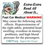 Fast Car WARNING - Read All About It...
