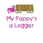 Pappy's a Logger - Pink